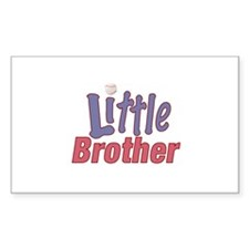 Little Brother (Baseball) Rectangle Decal