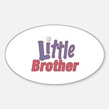 Little Brother (Baseball) Oval Decal