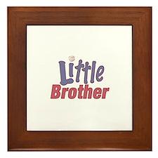 Little Brother (Baseball) Framed Tile