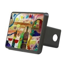 Wine time art Hitch Cover
