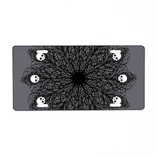 Gothic Black Peacock Feather Aluminum License Plat