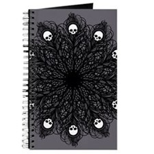 Gothic Black Peacock Feather Journal