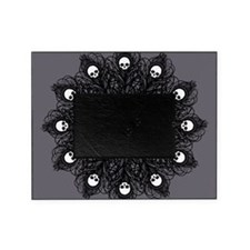 Gothic Black Peacock Feather Picture Frame