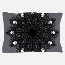 Gothic Black Peacock Feather Pillow Case