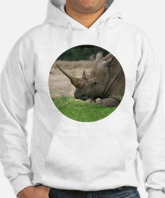 Rhinoceros Photo with Huge  Horn Hoodie