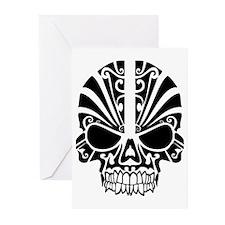 Skull Tattoo Tribal Greeting Cards