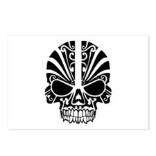 Skull Tattoo Tribal Postcards (Package of 8)