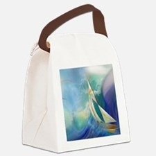 Sailboat Waterspout Canvas Lunch Bag