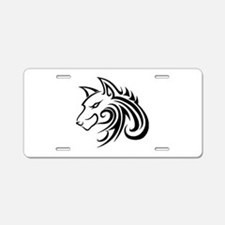 Wolf Tattoo Tribal Aluminum License Plate