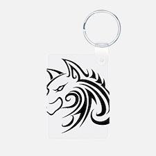 Wolf Tattoo Tribal Keychains