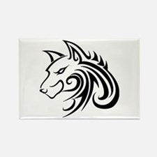 Wolf Tattoo Tribal Magnets