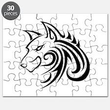 Wolf Tattoo Tribal Puzzle