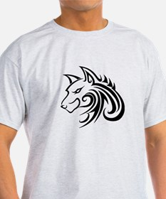 Wolf Tattoo Tribal T-Shirt