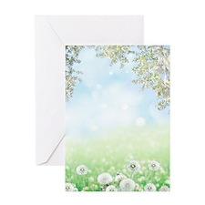 Dandelion Field Greeting Card