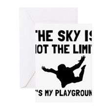 Skydive Playground Greeting Cards