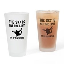 Skydive Playground Drinking Glass