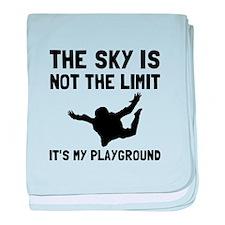 Skydive Playground baby blanket