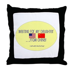 Waiting For My Daughter...Fro Throw Pillow