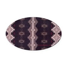 19th Century Navajo design Oval Car Magnet