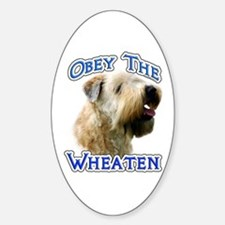 Wheaten Obey Oval Decal