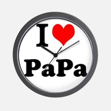 I Love PaPa Wall Clock