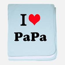 I Love PaPa baby blanket