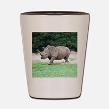 Rhinoceros with Huge Horn Shot Glass