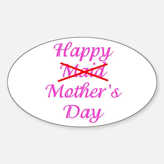Happy Mother's Day Oval Decal