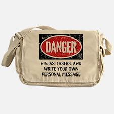 Personalized Danger Sign Messenger Bag