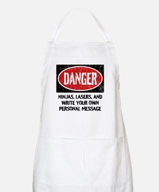 Personalized Danger Sign Apron
