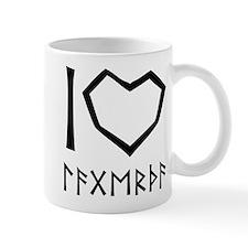 I Love Lagertha (futhark style) Mugs