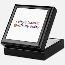 Play Baseball with Daddy Keepsake Box