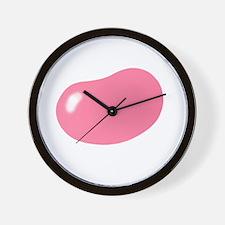 bigger jellybean pink Wall Clock