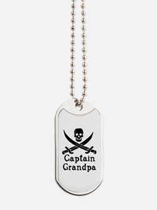 Captain Grandpa Dog Tags