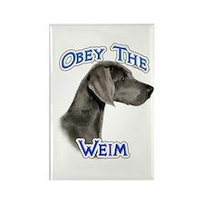 Weimaraner Obey Rectangle Magnet