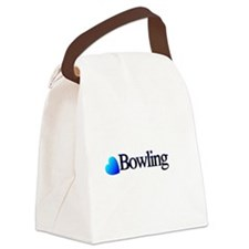 Heart Bowling Canvas Lunch Bag