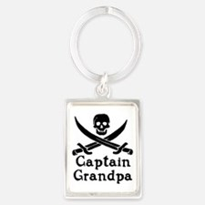 Captain Grandpa Portrait Keychain