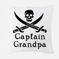 Captain Grandpa Woven Throw Pillow