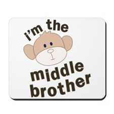 middle brother monkey Mousepad