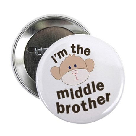 middle brother monkey Button