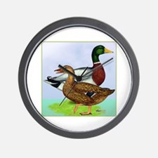 Mallard Duck Pair Wall Clock