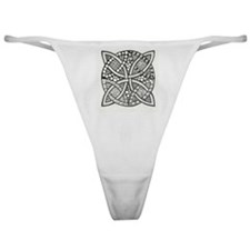 Intricate Tangled Celtic Knot Design Classic Thong