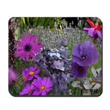 Pink and Purple Flower Photo Collage Mousepad