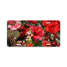Red Australian Flower Bouqu Aluminum License Plate