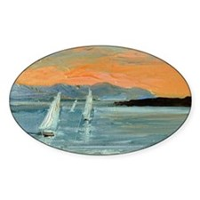 Sunset sailing Decal