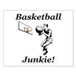 Basketball Junkie Small Poster