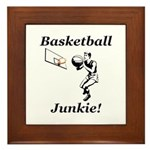 Basketball Junkie Framed Tile