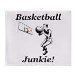 Basketball Junkie Throw Blanket
