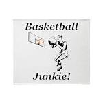 Basketball Junkie Throw Blanket