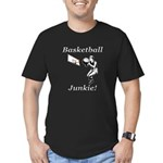Basketball Junkie Men's Fitted T-Shirt (dark)